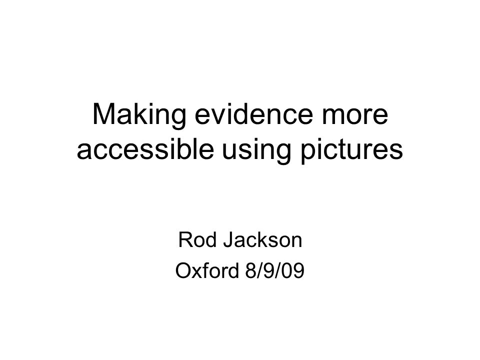 Making evidence more accessible using pictures