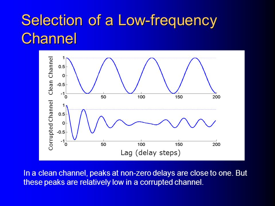 Selection of a Low-frequency Channel