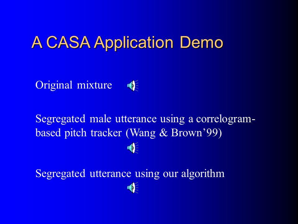 A CASA Application Demo
