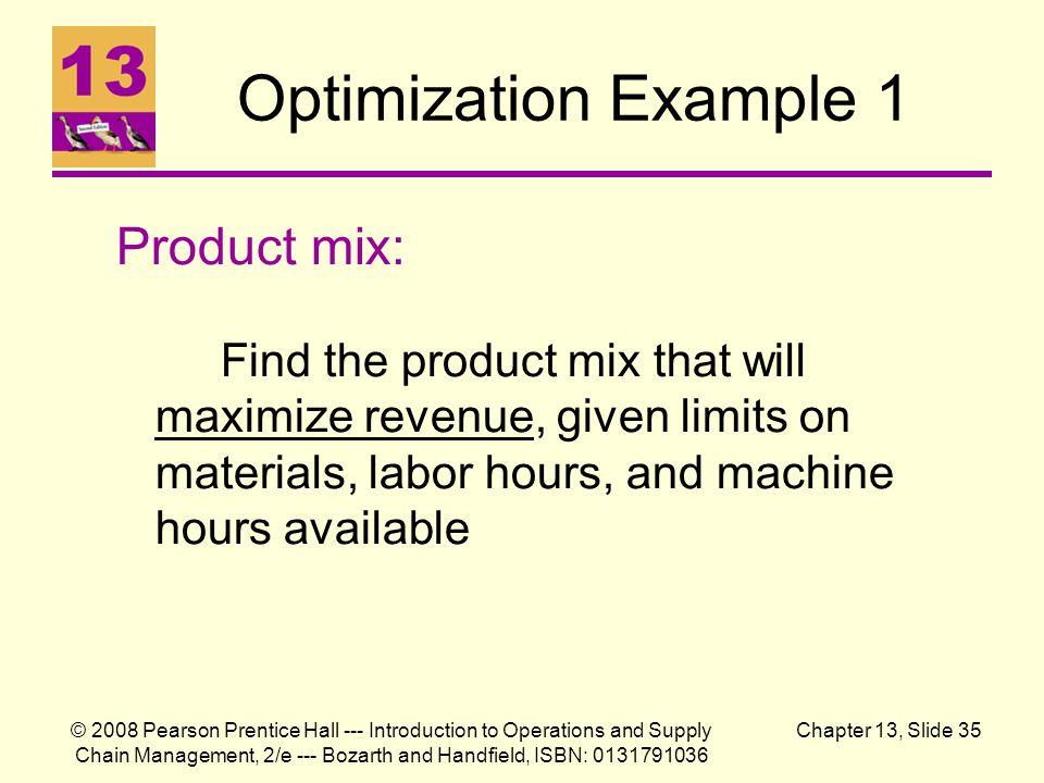 Optimization Example 1