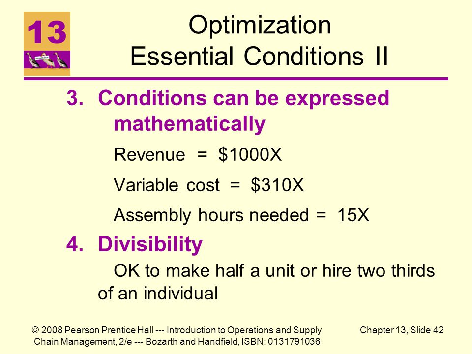 Optimization Essential Conditions II