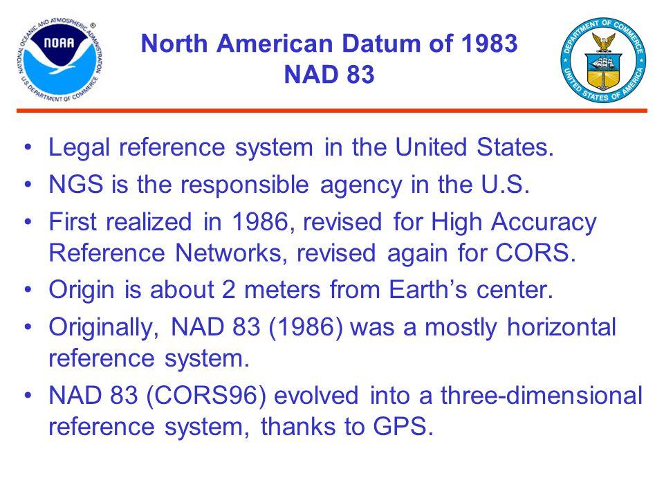 North American Datum of 1983 NAD 83