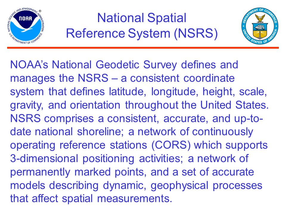 National Spatial Reference System (NSRS)