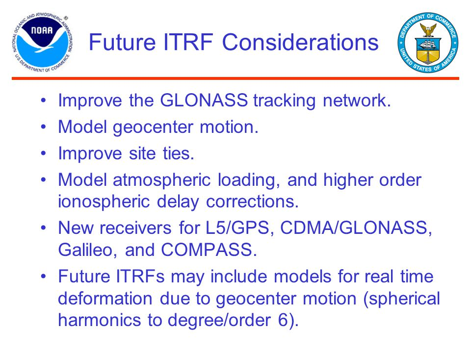 Future ITRF Considerations