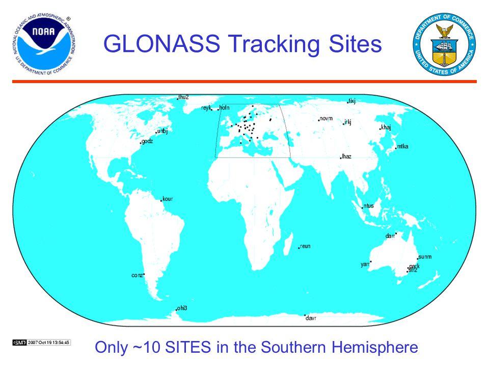 GLONASS Tracking Sites