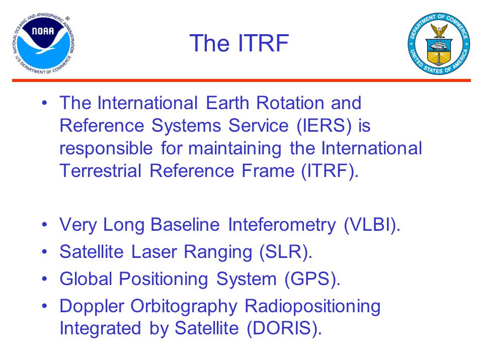 The ITRF