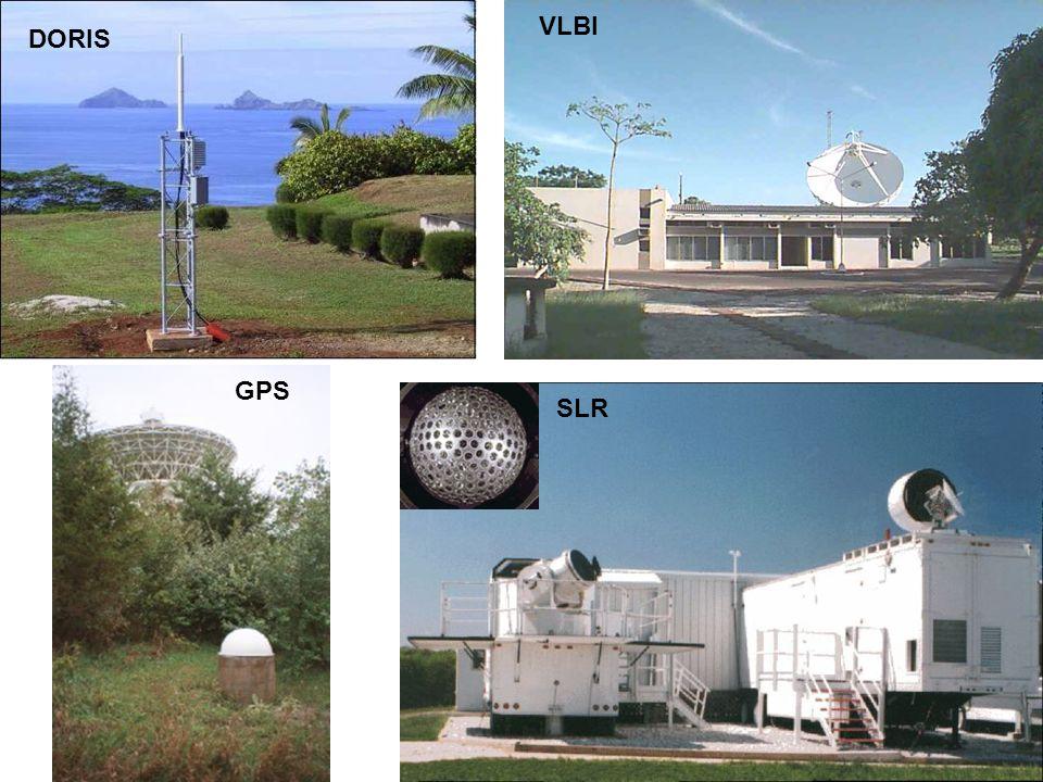 VLBI DORIS GPS SLR