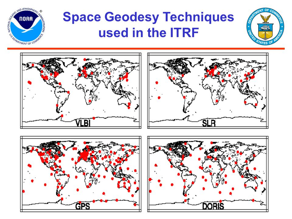 Space Geodesy Techniques used in the ITRF