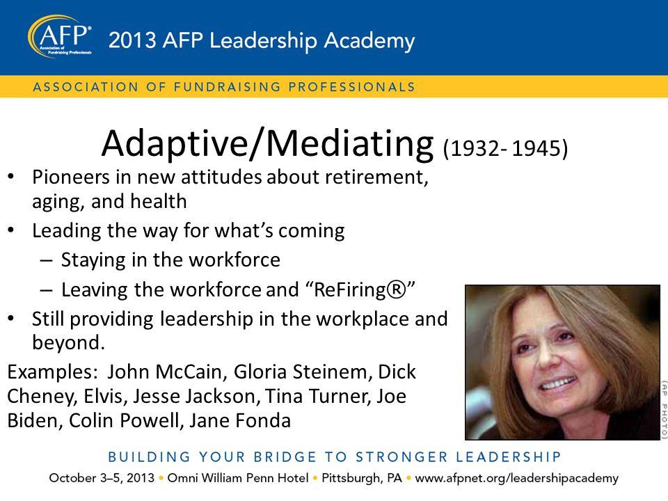 Adaptive/Mediating (1932- 1945)