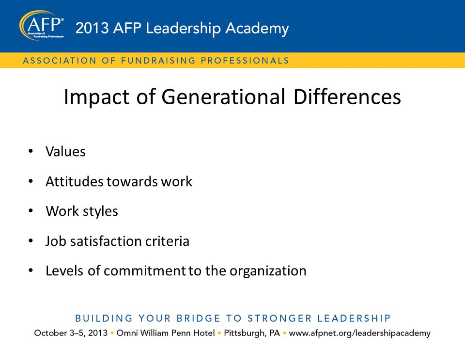 Impact of Generational Differences