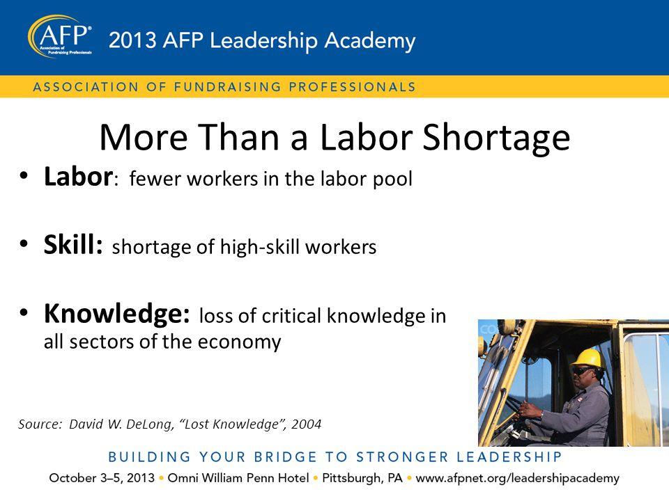 More Than a Labor Shortage