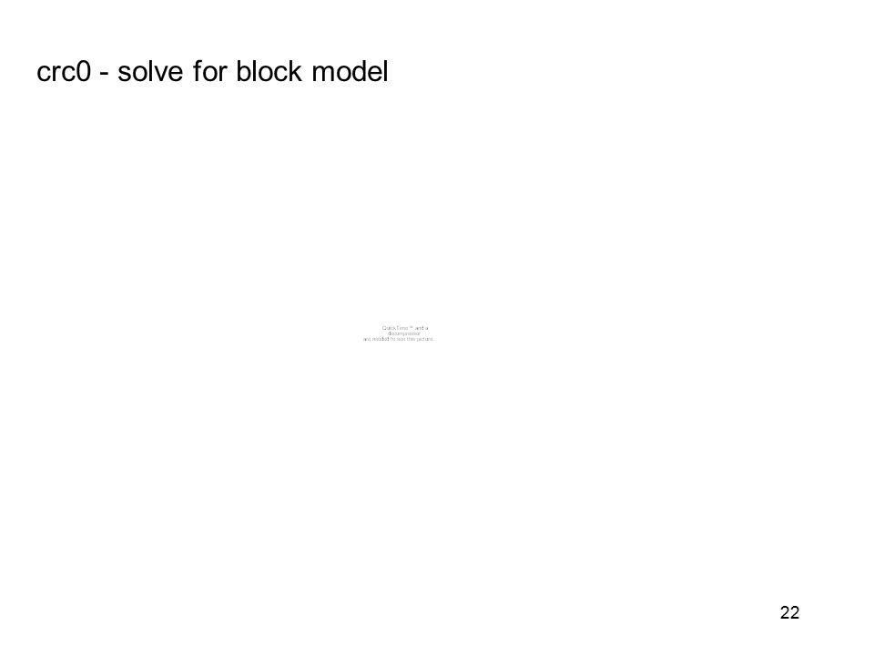 crc0 - solve for block model