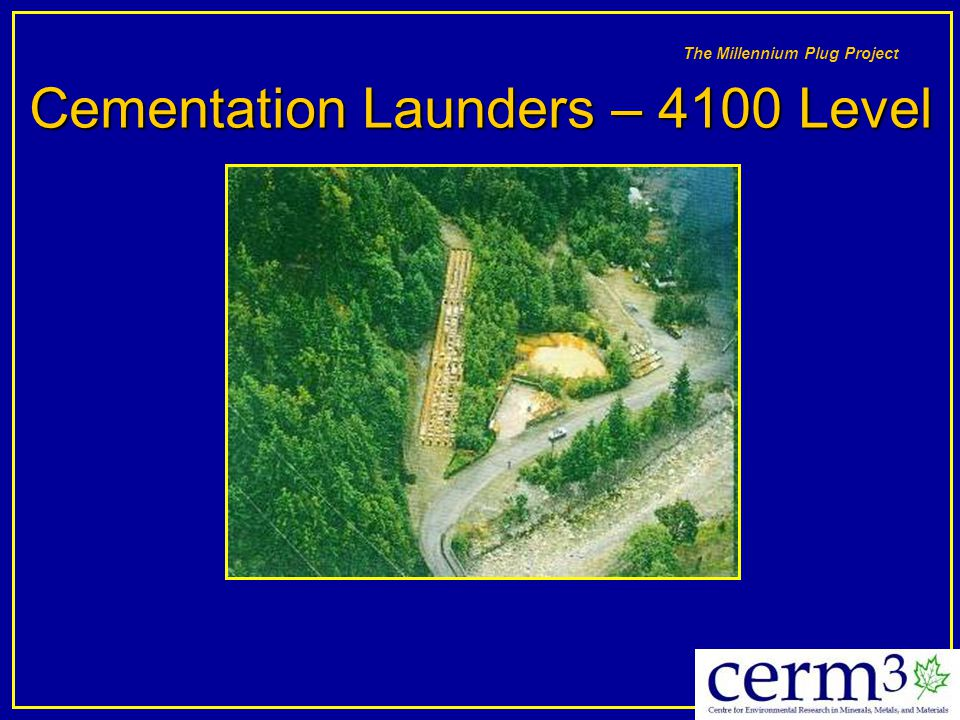 Cementation Launders – 4100 Level