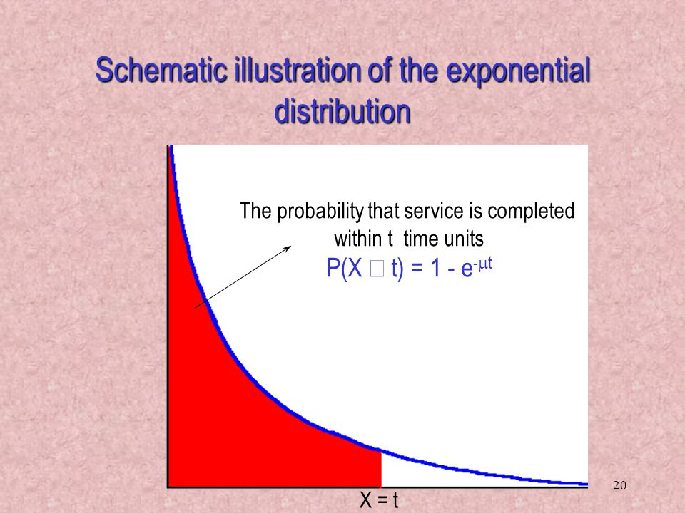Schematic illustration of the exponential distribution