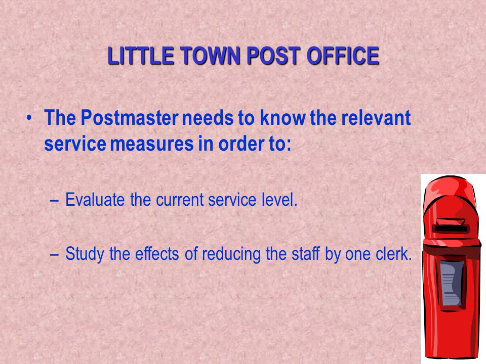 LITTLE TOWN POST OFFICE