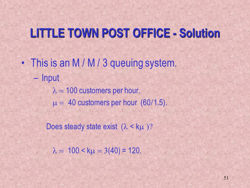 LITTLE TOWN POST OFFICE - Solution