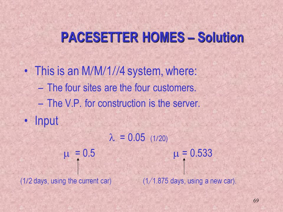 PACESETTER HOMES – Solution