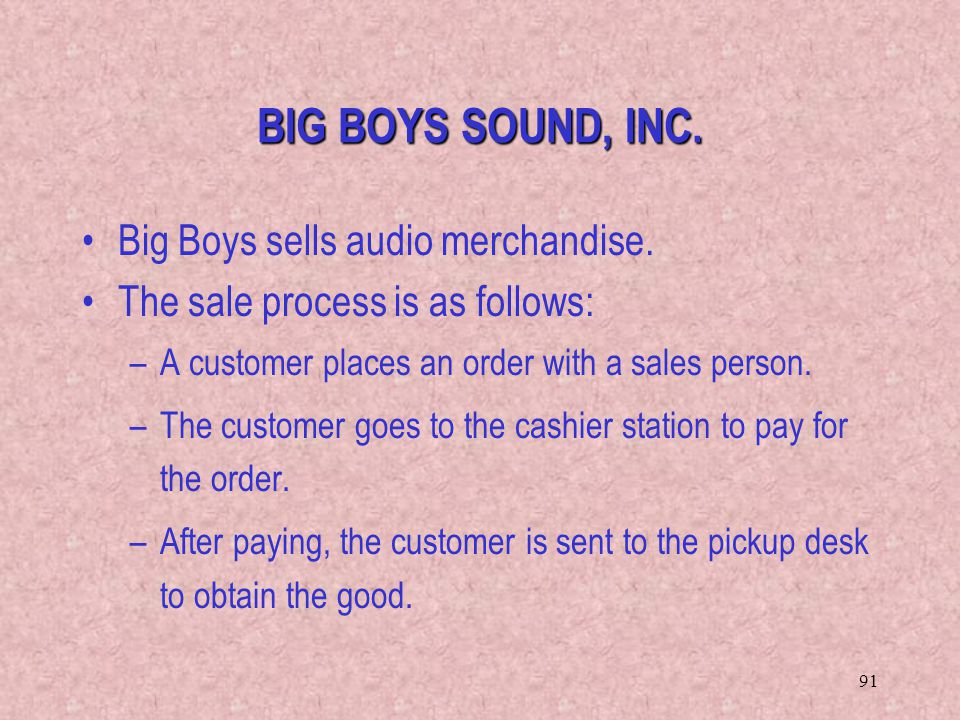 BIG BOYS SOUND, INC. Big Boys sells audio merchandise.