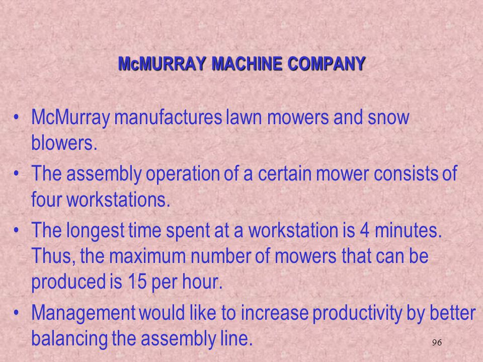 McMURRAY MACHINE COMPANY