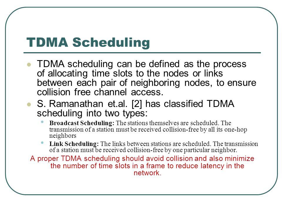 TDMA Scheduling