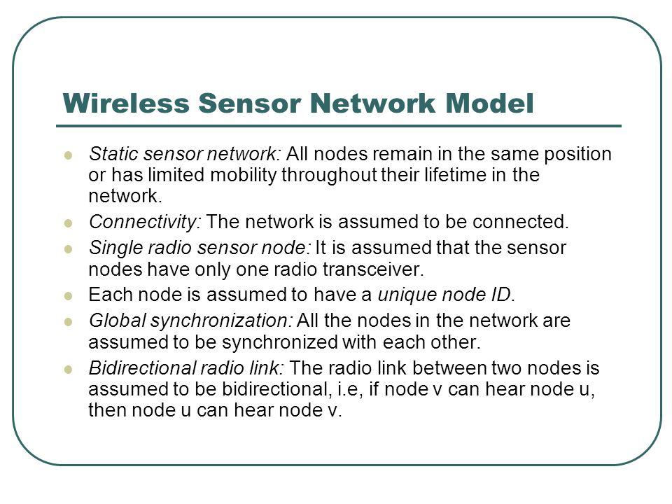 Wireless Sensor Network Model
