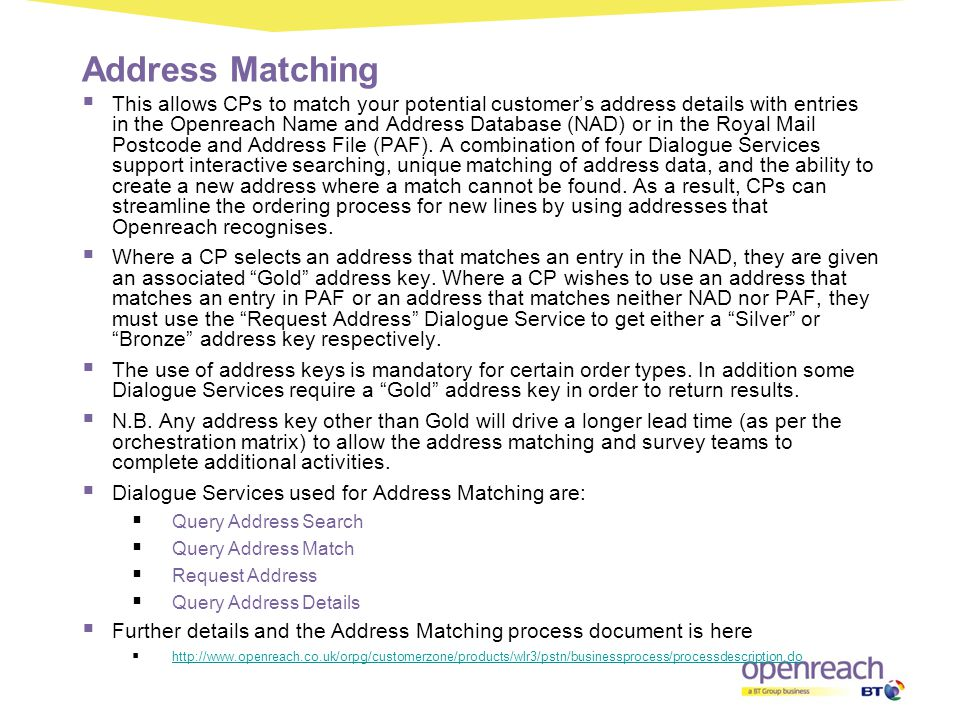 Address Matching
