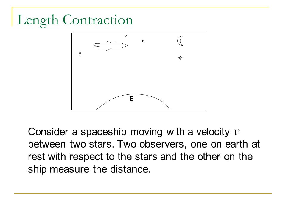 Length Contraction v. E.