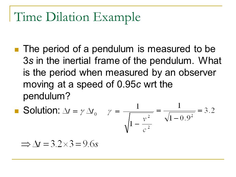 Time Dilation Example