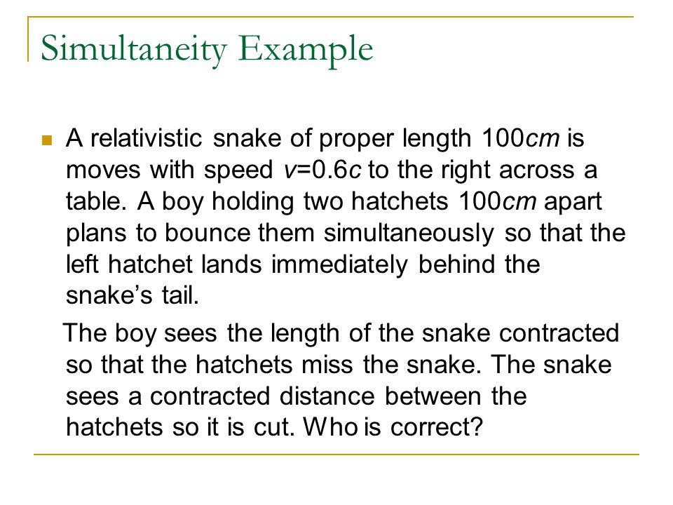 Simultaneity Example
