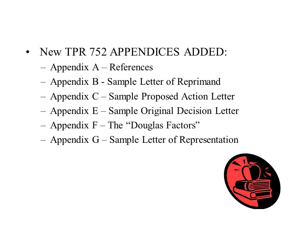 New TPR 752 APPENDICES ADDED: