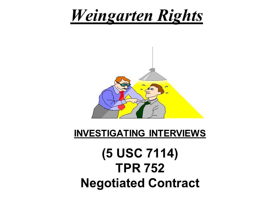 INVESTIGATING INTERVIEWS