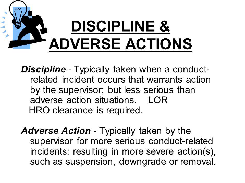 DISCIPLINE & ADVERSE ACTIONS