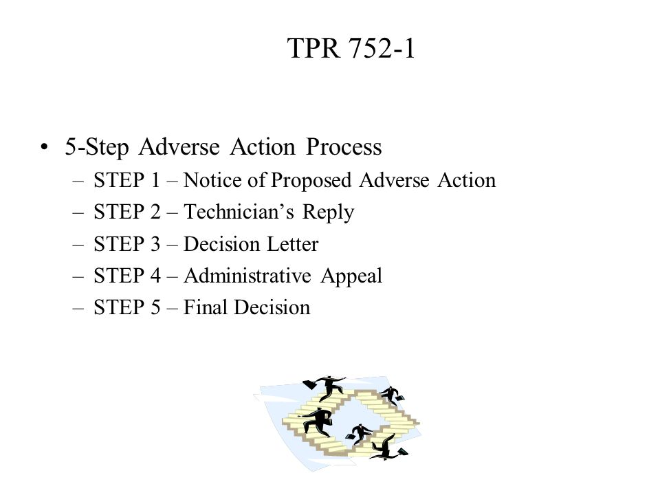 TPR 752-1 5-Step Adverse Action Process