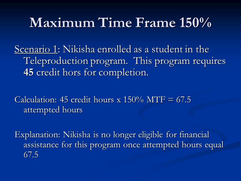 Maximum Time Frame 150%