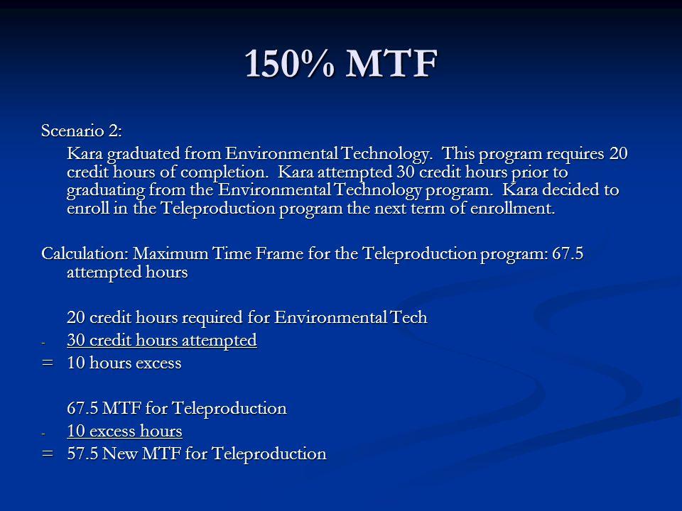 150% MTF Scenario 2: