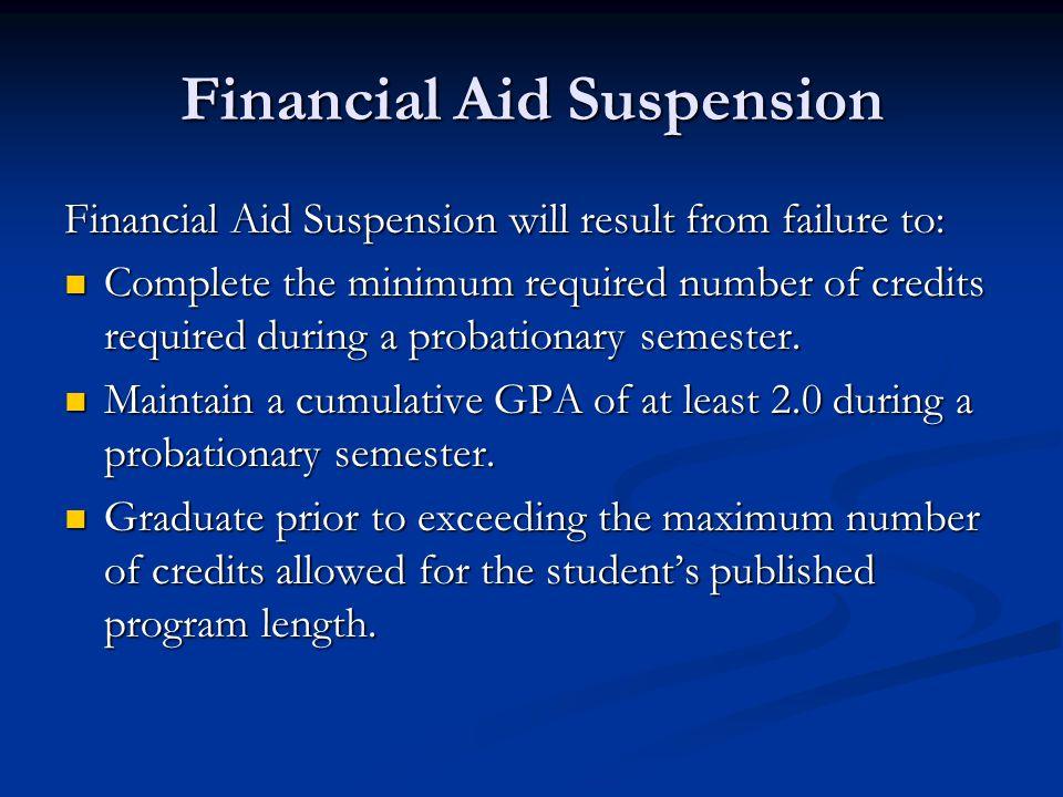 Financial Aid Suspension