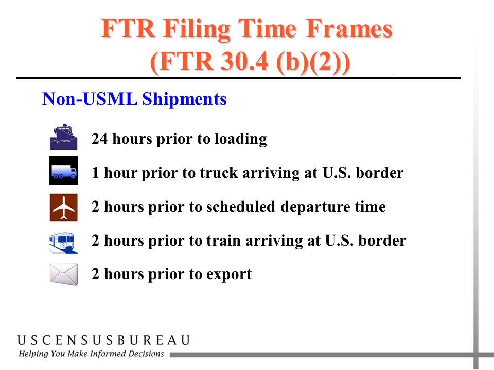 FTR Filing Time Frames (FTR 30.4 (b)(2))