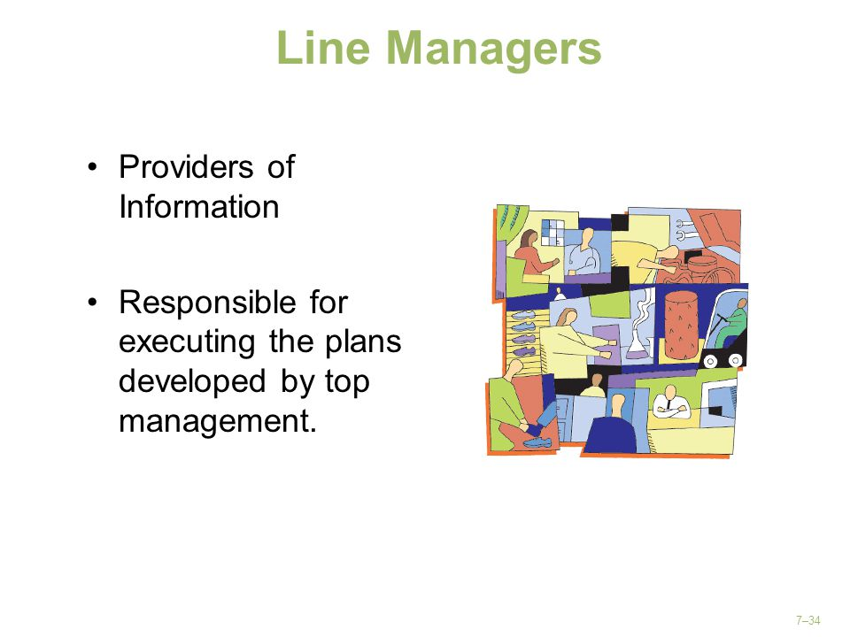 Line Managers Providers of Information