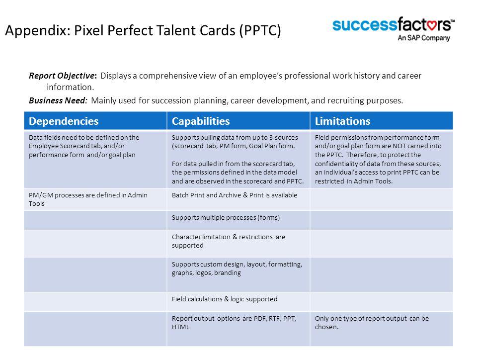 Appendix: Pixel Perfect Talent Cards (PPTC)