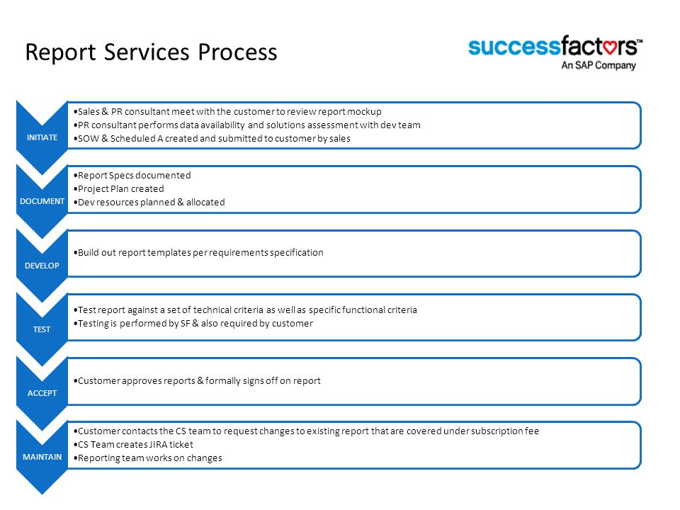 Report Services Process