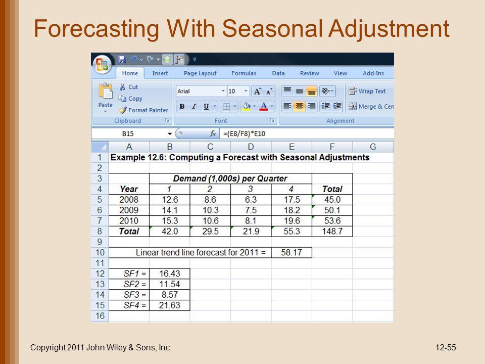 Forecasting With Seasonal Adjustment