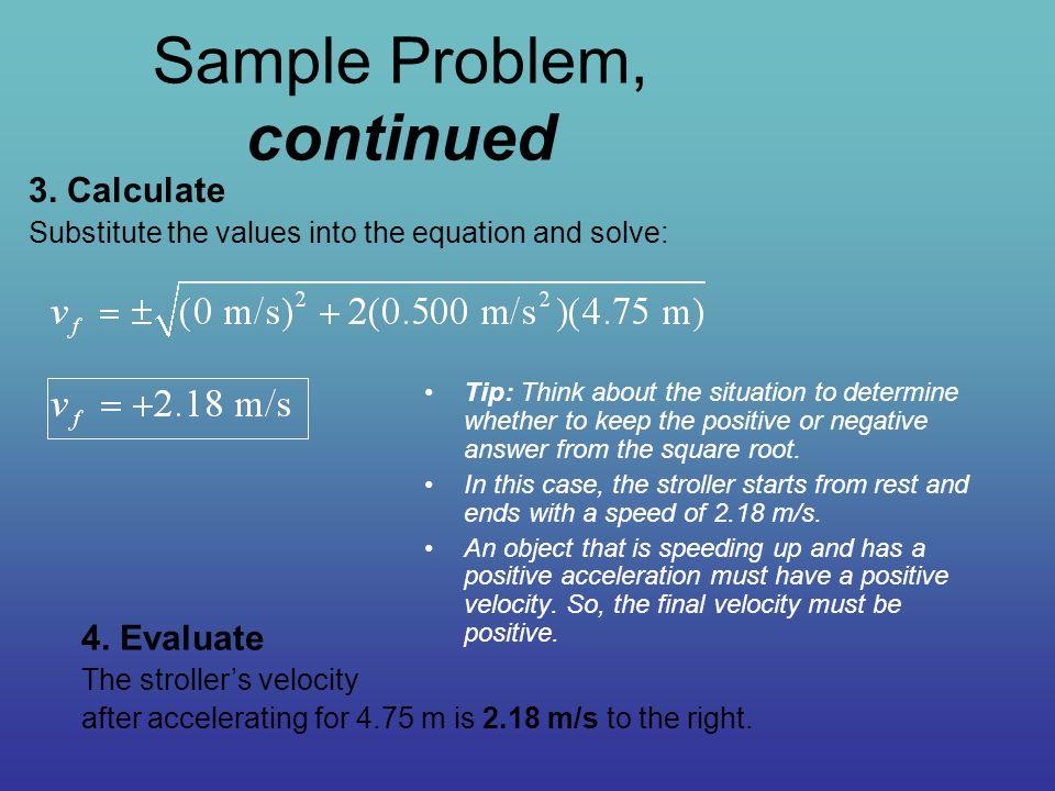 Sample Problem, continued