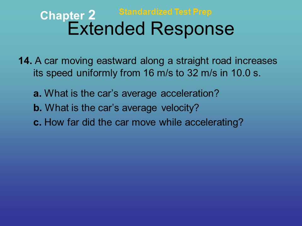 Extended Response Chapter 2