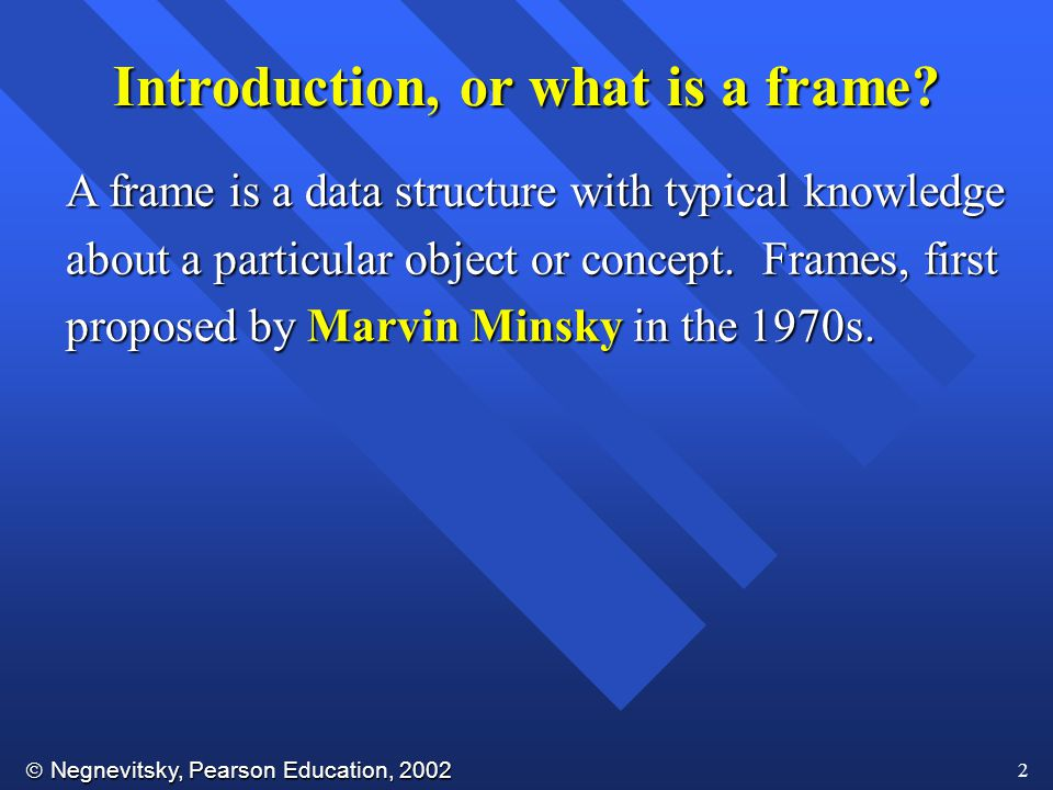 Introduction, or what is a frame