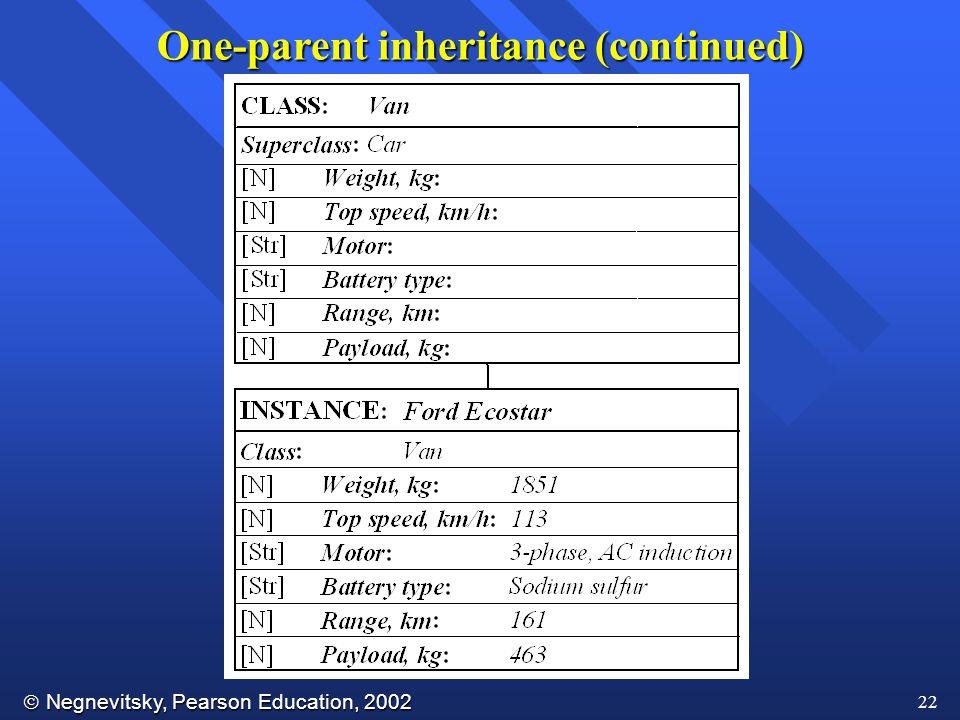 One-parent inheritance (continued)