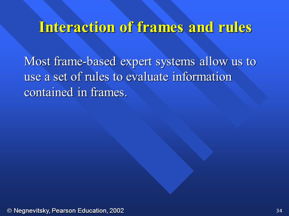 Interaction of frames and rules