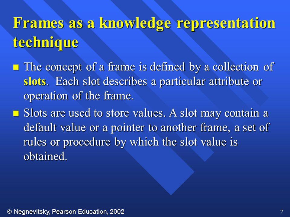 Frames as a knowledge representation technique