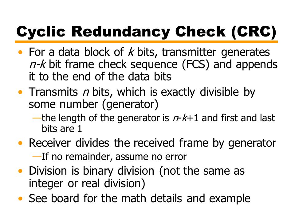 Cyclic Redundancy Check (CRC)