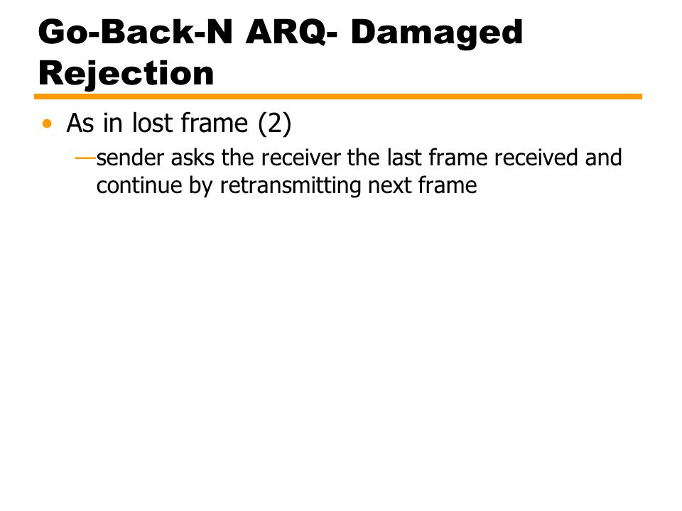 Go-Back-N ARQ- Damaged Rejection