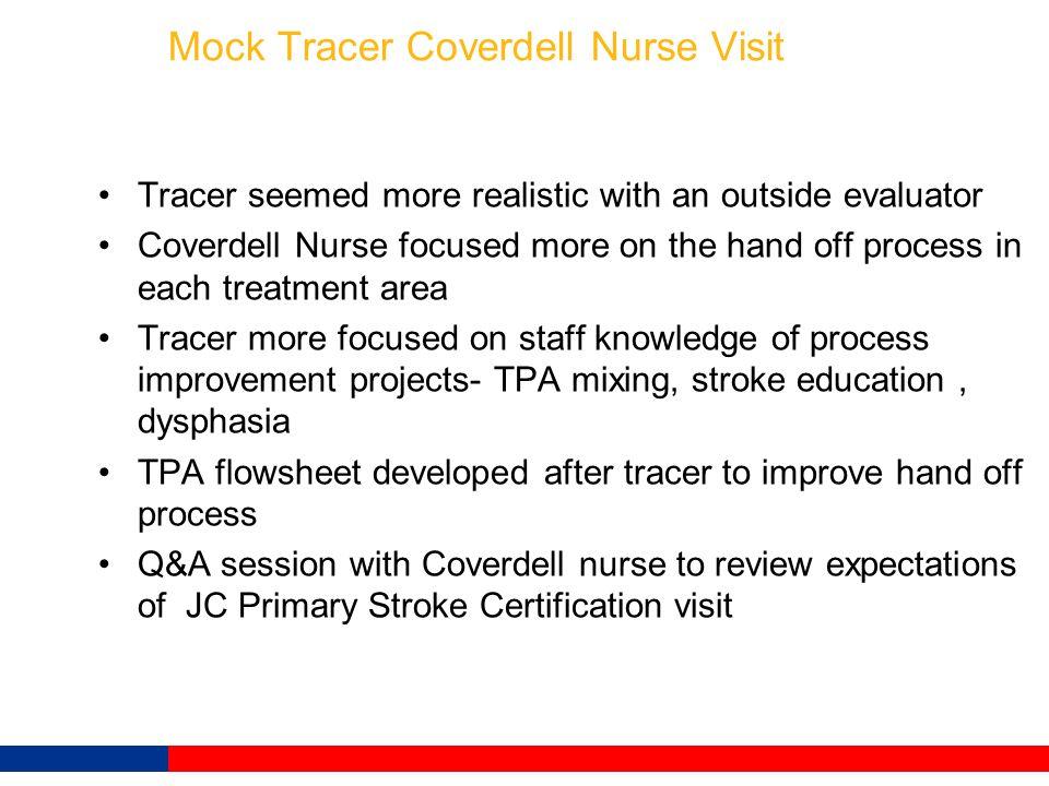 Mock Tracer Coverdell Nurse Visit